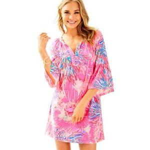 Lilly Pulitzer Del Lago Pink Tunic Dress Sz Small